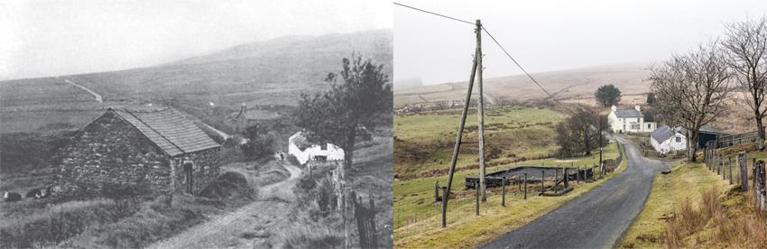 Aberceiro-fach Cottage, Ponterwyd 1952; Aberceiro-fach ruins, Ponterwyd 2015, NPRN: 420775.