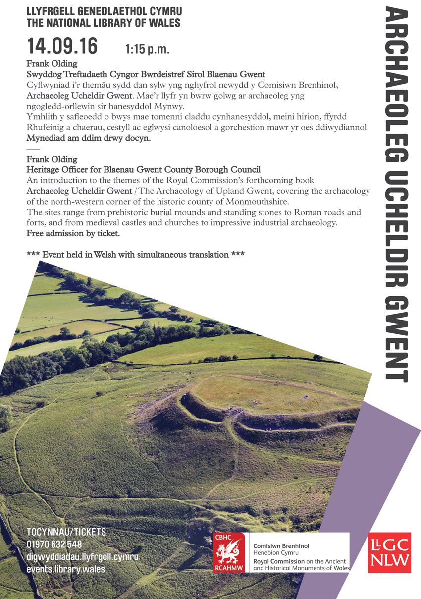 Archaeoleg Ucheldir Gwent - Poster