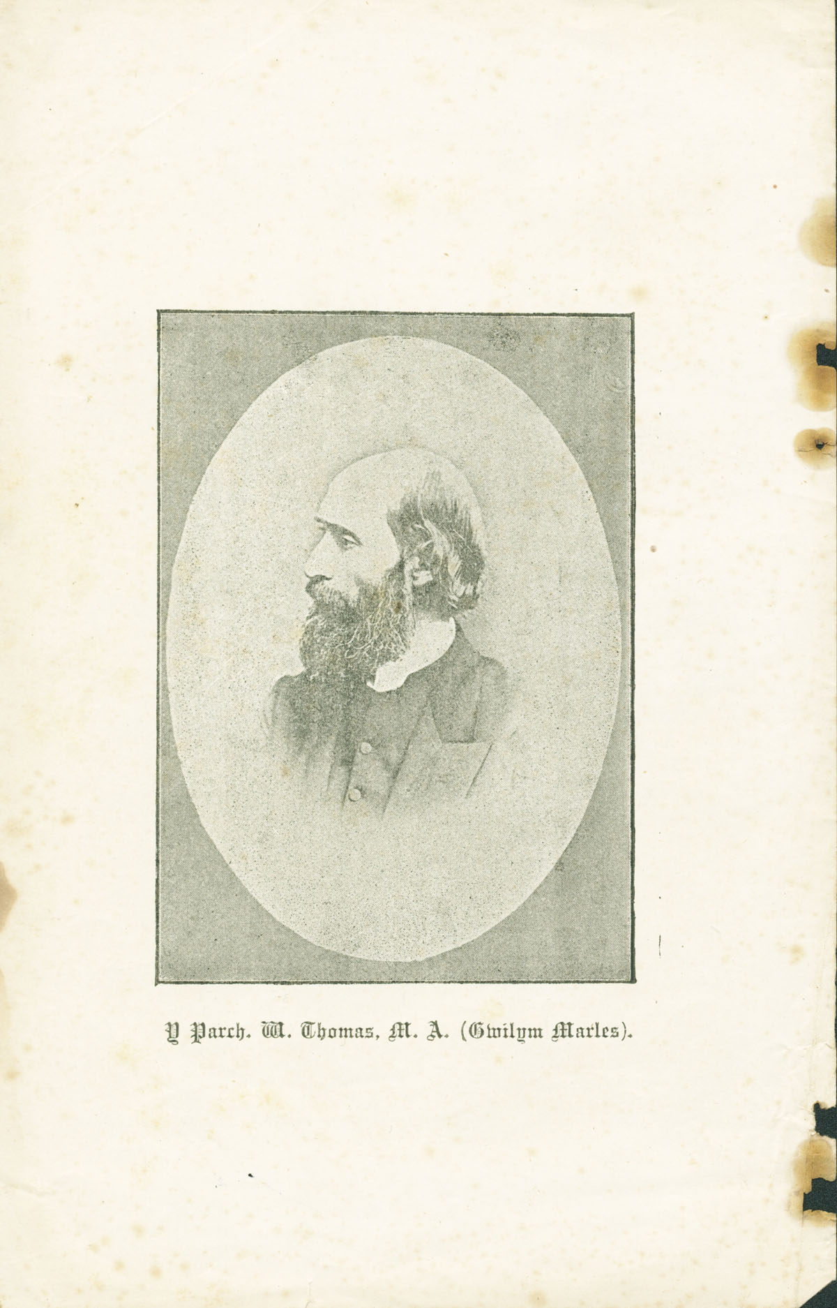 Image of Rev. William Thomas (commonly known by his bardic name Gwilym Marles).