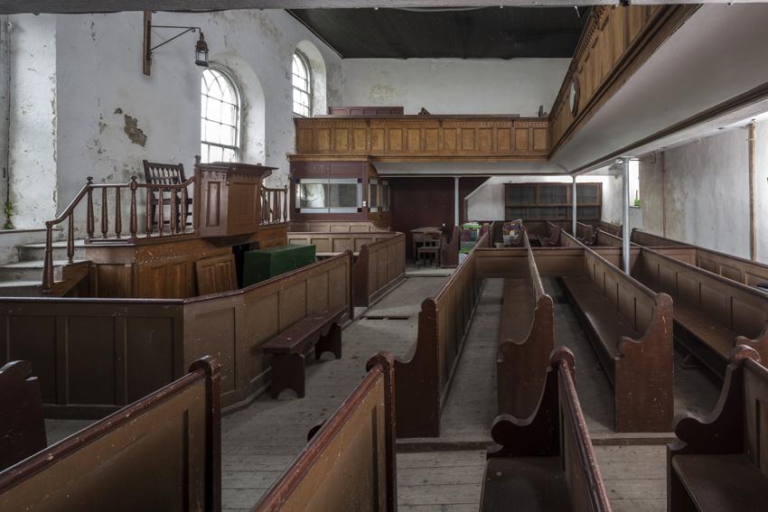 Interior of Hen Gapel, Rhydowen, Llandysul NPRN: 11594, DS2014_288_001