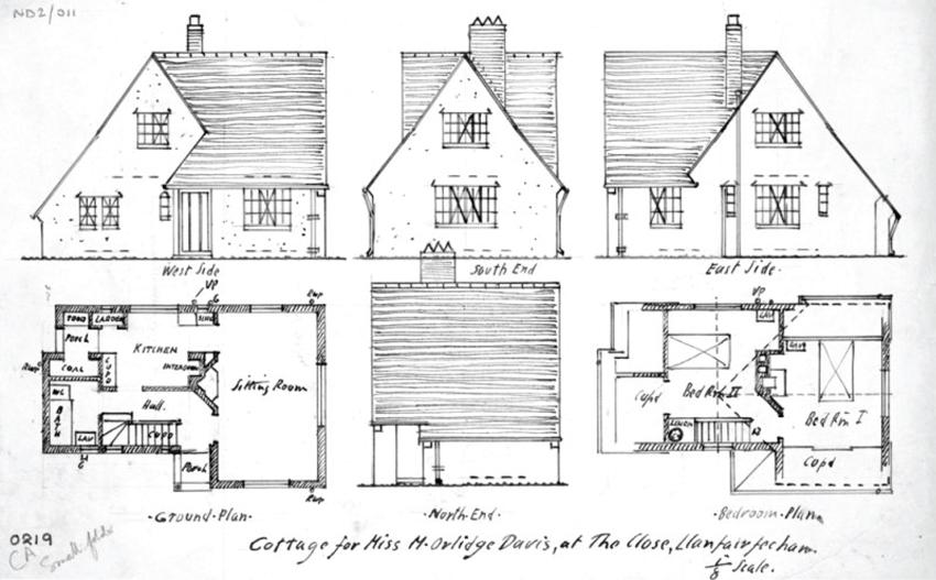 Uwcholwg a golwg o Acorn Cottage, The Close, Llanfairfechan. DI2010_1096 NPRN 96649