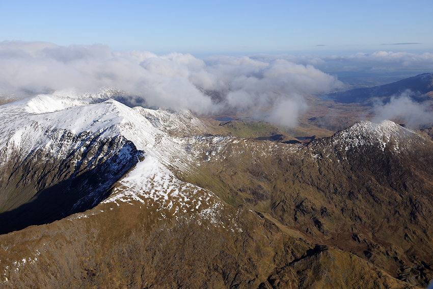 7 & 8. Snowdon range in winter