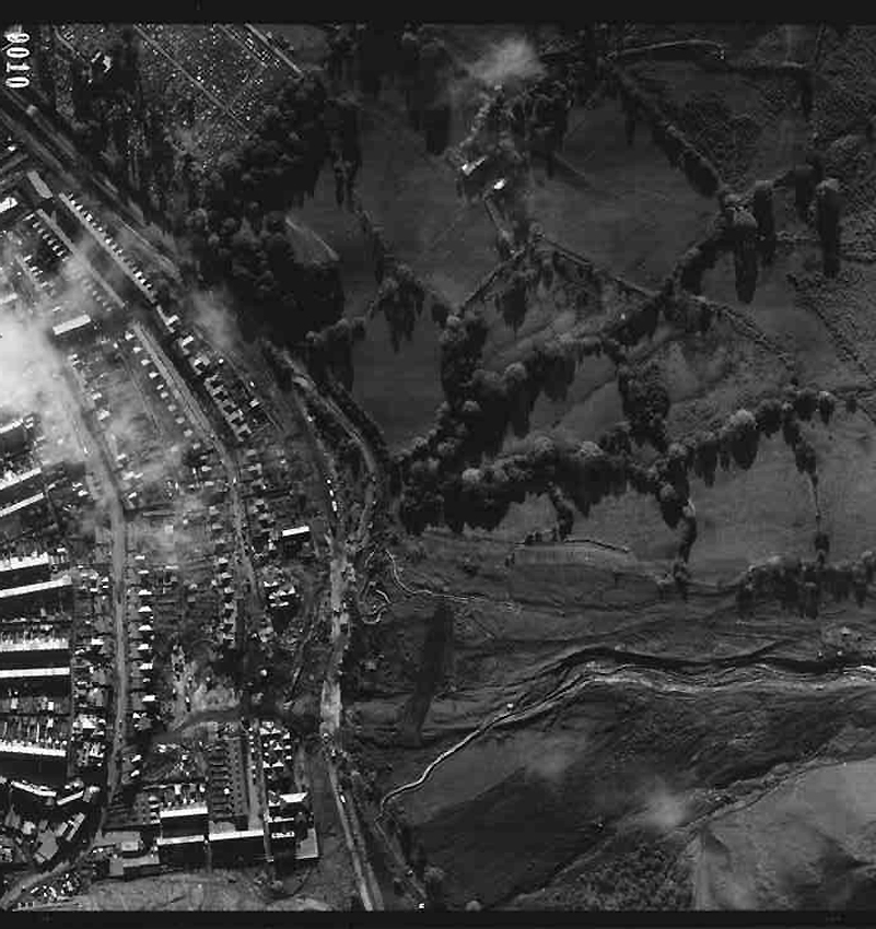 Aberfan 1966 RAF vertical aerial photograph from the Royal Commission's archive
