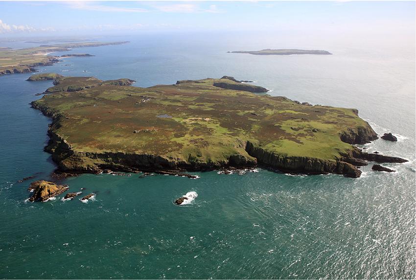 RCAHMW aerial photograph of Skomer Island, NPRN 402711