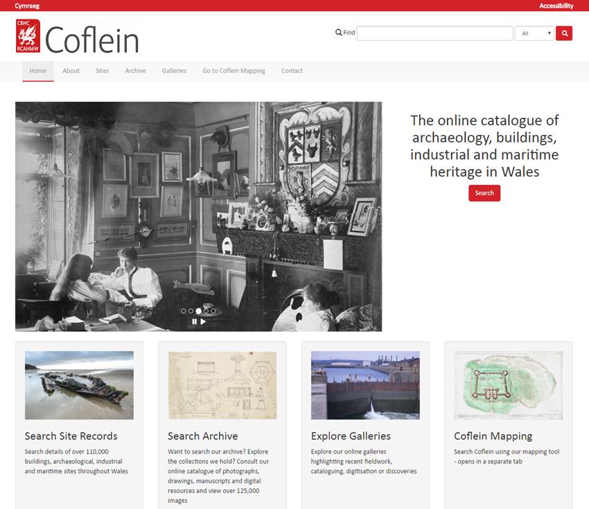 Coflein national monuments of Wales database
