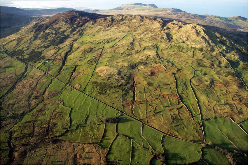 Snowdonia Rowen field system aerial photograph