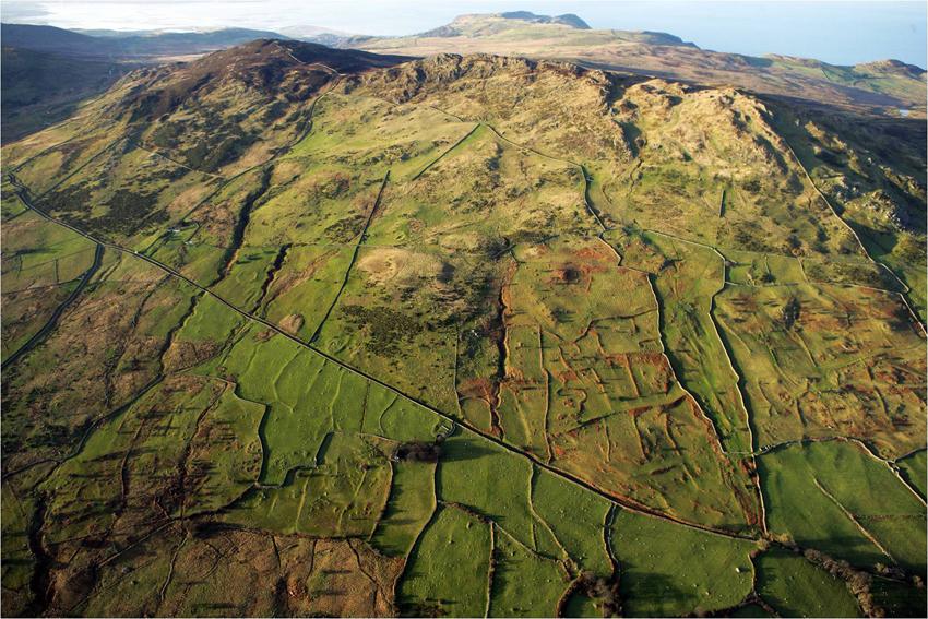 Snowdonia Rowen field system aerial photograph