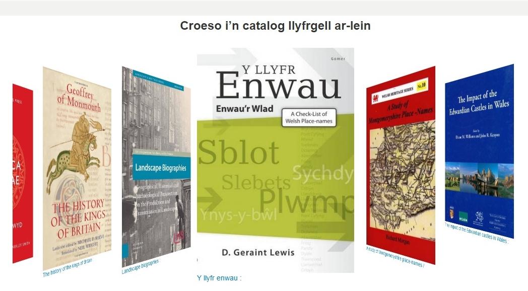 Library catalogue screenshot - welsh