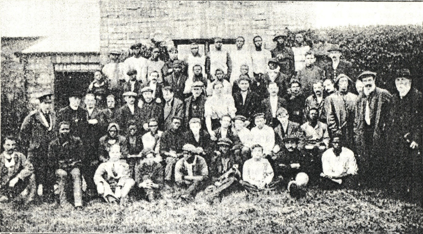 Survivors pictured outside Stanley Sailor's Hospital.