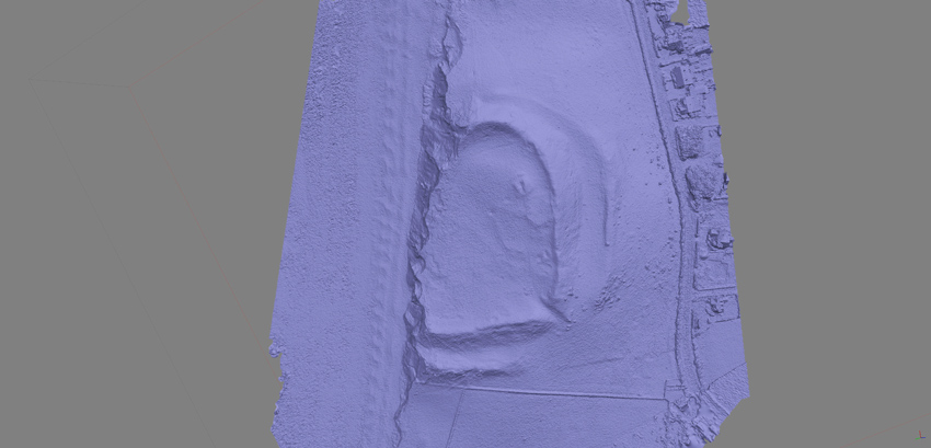 A 3D computer model of the eroding fort generated from aerial photography will allow archaeologists to measure the rate of coastal erosion.
