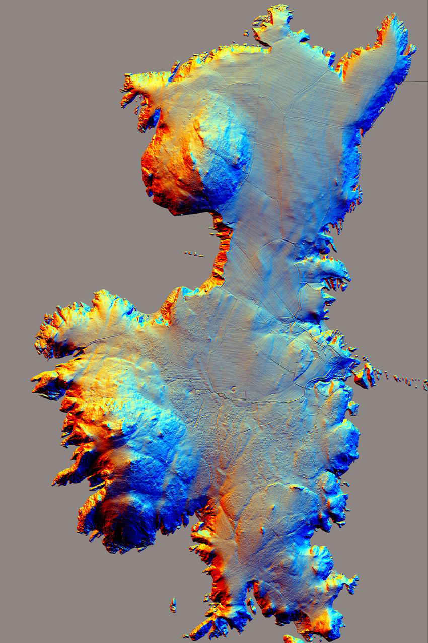 Airborne laser scanning (LiDAR) of Ramsey Island (Crown CHERISH PROJECT 2017. Produced with EU funds through the Ireland Wales Co-operation Programme 2014-2020. All material made freely available through