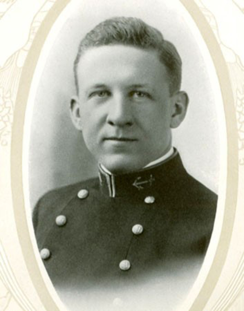 "Childs, E F W. Navy Cross. Ensign, USN. Childs was the first American submariner to die in the conflict. Image Source. (Feary, Dennis; Gonyo, Bill. ""Earle Wayne Freed Childs."" On Eternal Patrol - Lost Submariners of the U.S. Navy. https://www.oneternalpatrol.com/childs-e-w-f.htm Accessed- 16/02/2018 From 'Earle Wayne Freed Childs.' The Lucky Bag. Volume 22. Published by the Class of 1915, United States Naval Academy. 1915. Internet Archive Archive.org https://archive.org/stream/luckybag1915unse#page/48/mode/2up/search/childs Accessed-08/03/2018 p.48)"