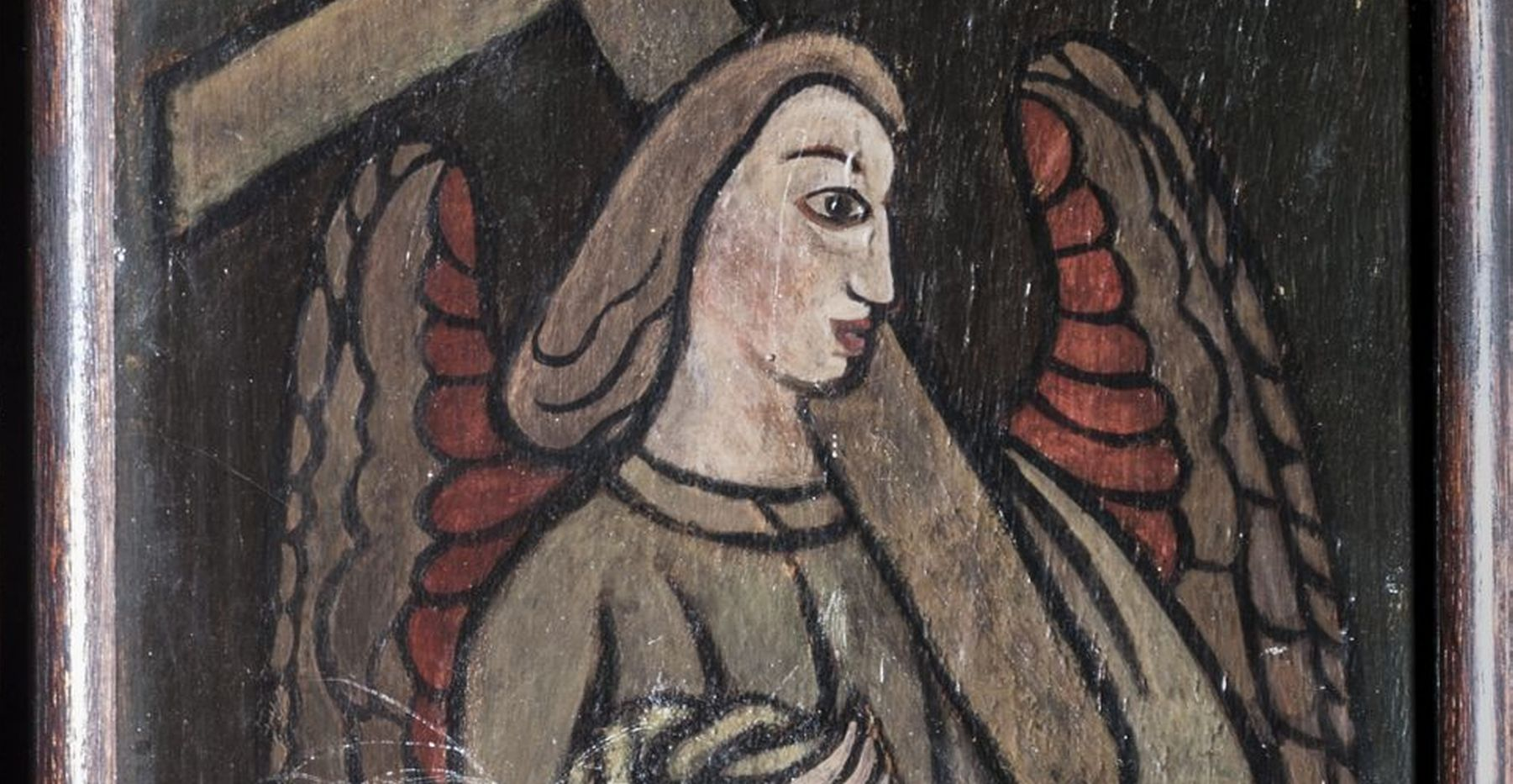 Angel painting detail