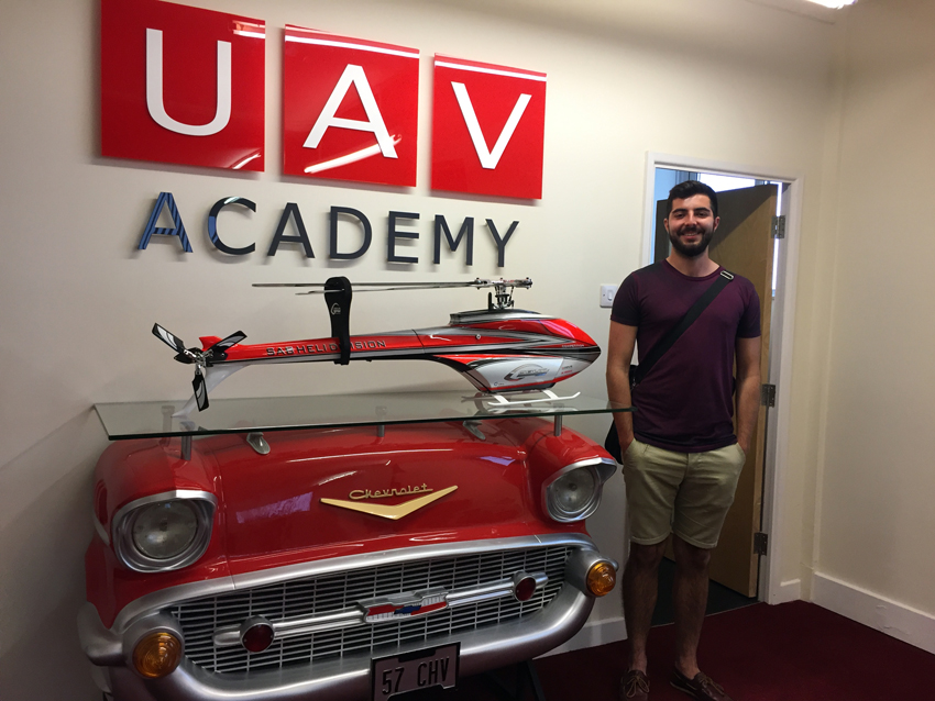 Dan at the UAV academy 2017.