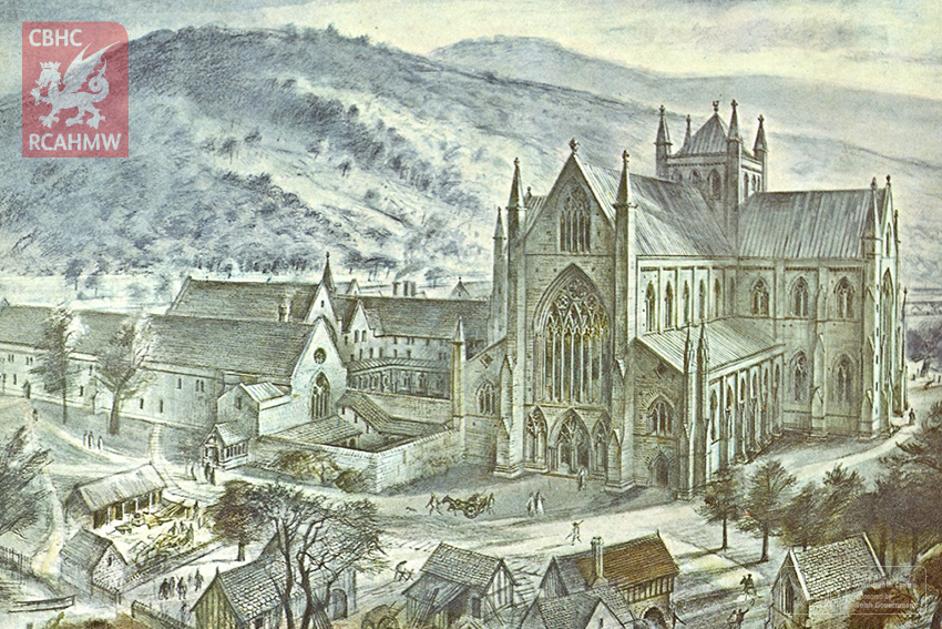Reconstruction drawing of Tintern Abbey NPRN: 359 DI2009_0406 C.434834