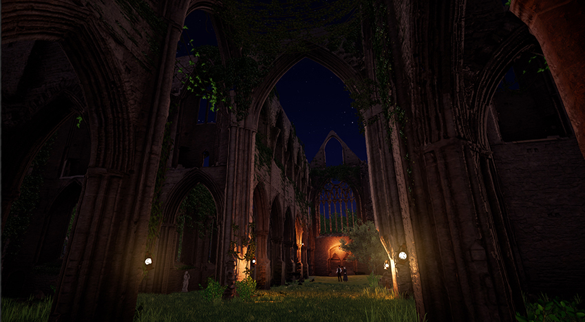 Tintern Abbey at night