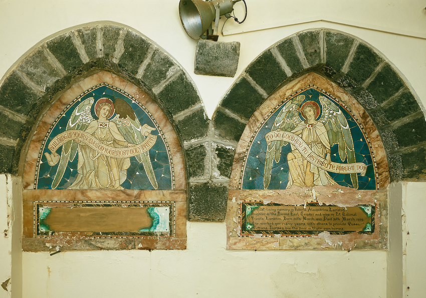Lambton Memorial, Flimston Church, Castlemartin, Pembrokeshire.