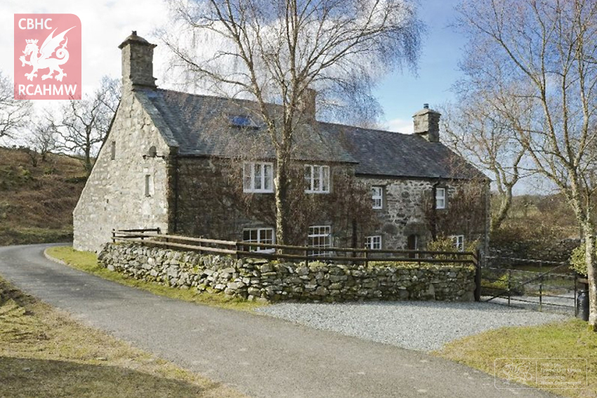 Uwchlaw'r–coed, NPRN:28881, the earliest Snowdonian house dated by inscription.