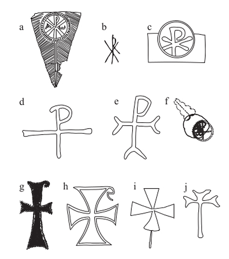 Line drawing showing chi-rhos and crosses (Fig 4.11), ref: CEMS_3_03_27, C607036.