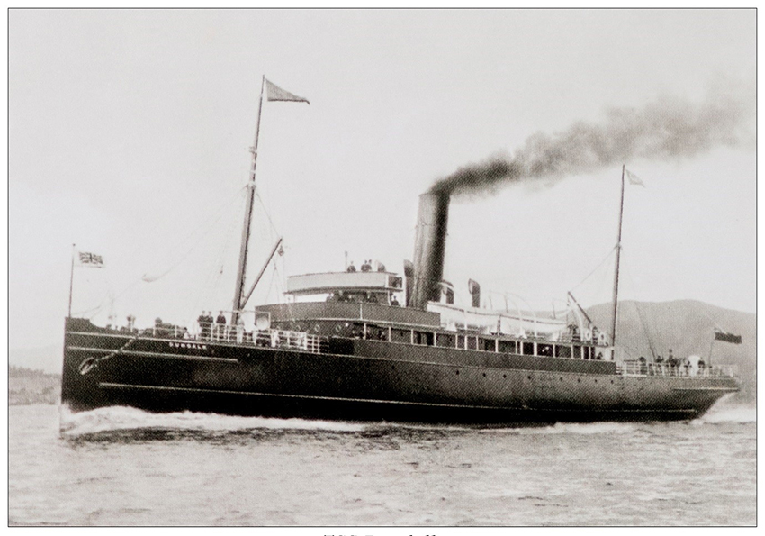 The TSS DUNDALK. With thanks to the TSS DUNDALK Commemoration Committee for their permission to publish this photograph.