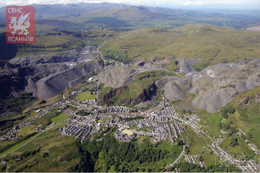 Ffestiniog: its Slate Mines and Quarries, 'city of slates' and railway to Porthmadog.
