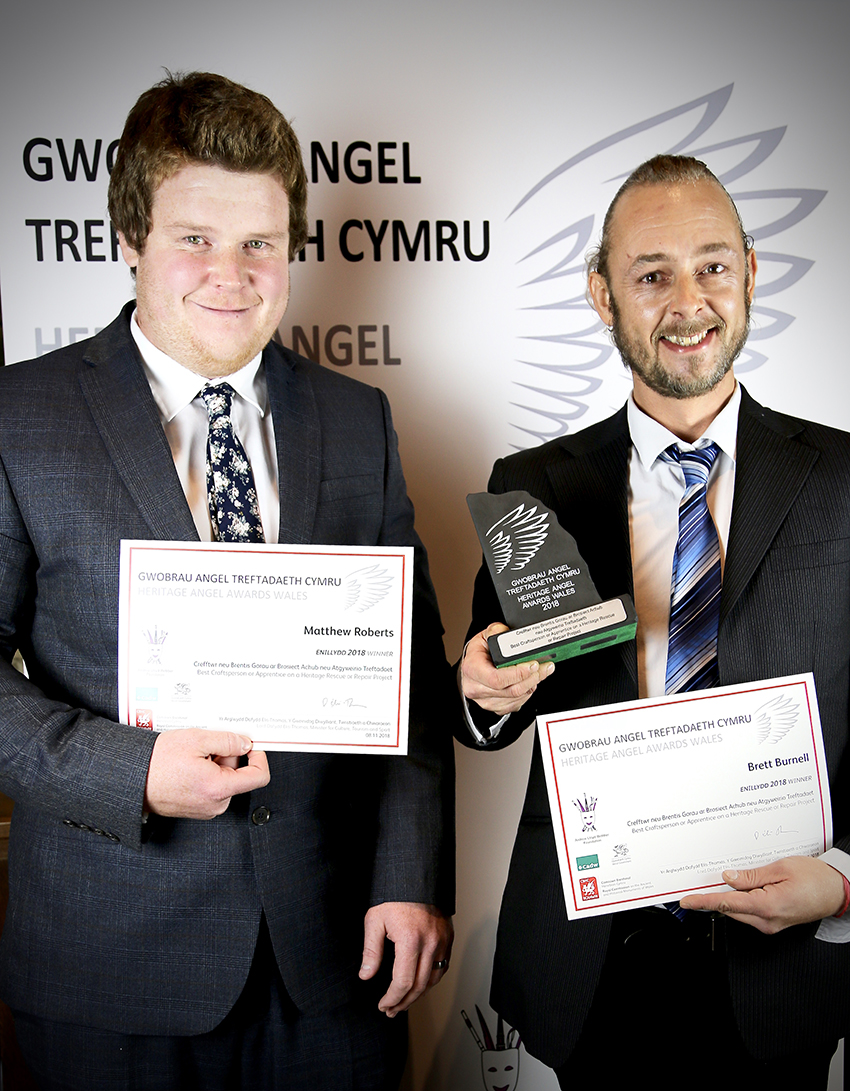 3. Matthew Roberts and Brett Burnell won the Best Craftsperson or Apprentice award for their work at St Fagans National Museum of History. ©Lauren Vickerman Poppet Studios photography.