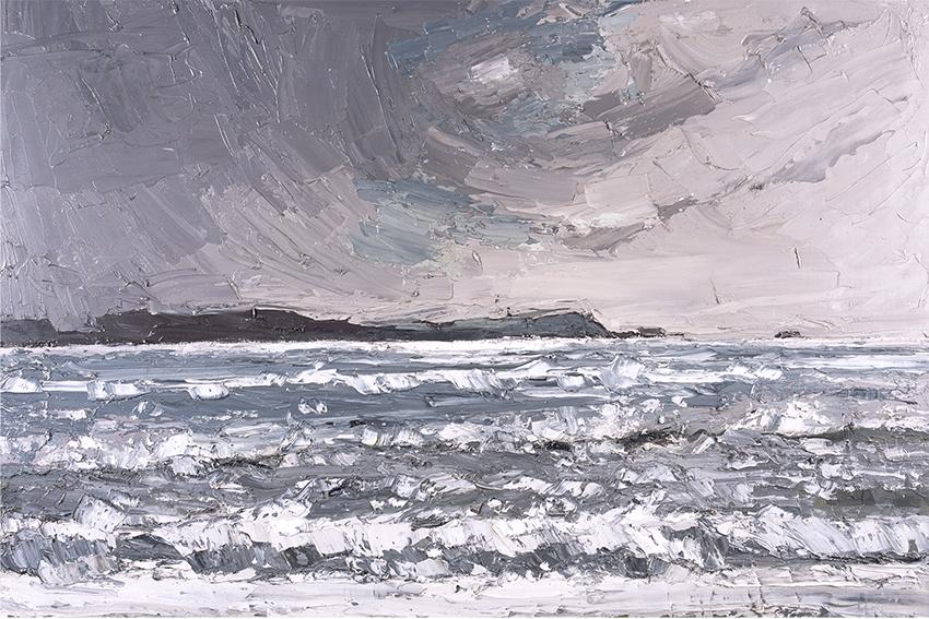 Kyffin Williams, 'Storm o'r Traeth', © Llyfrgell Genedlaethol Cymru