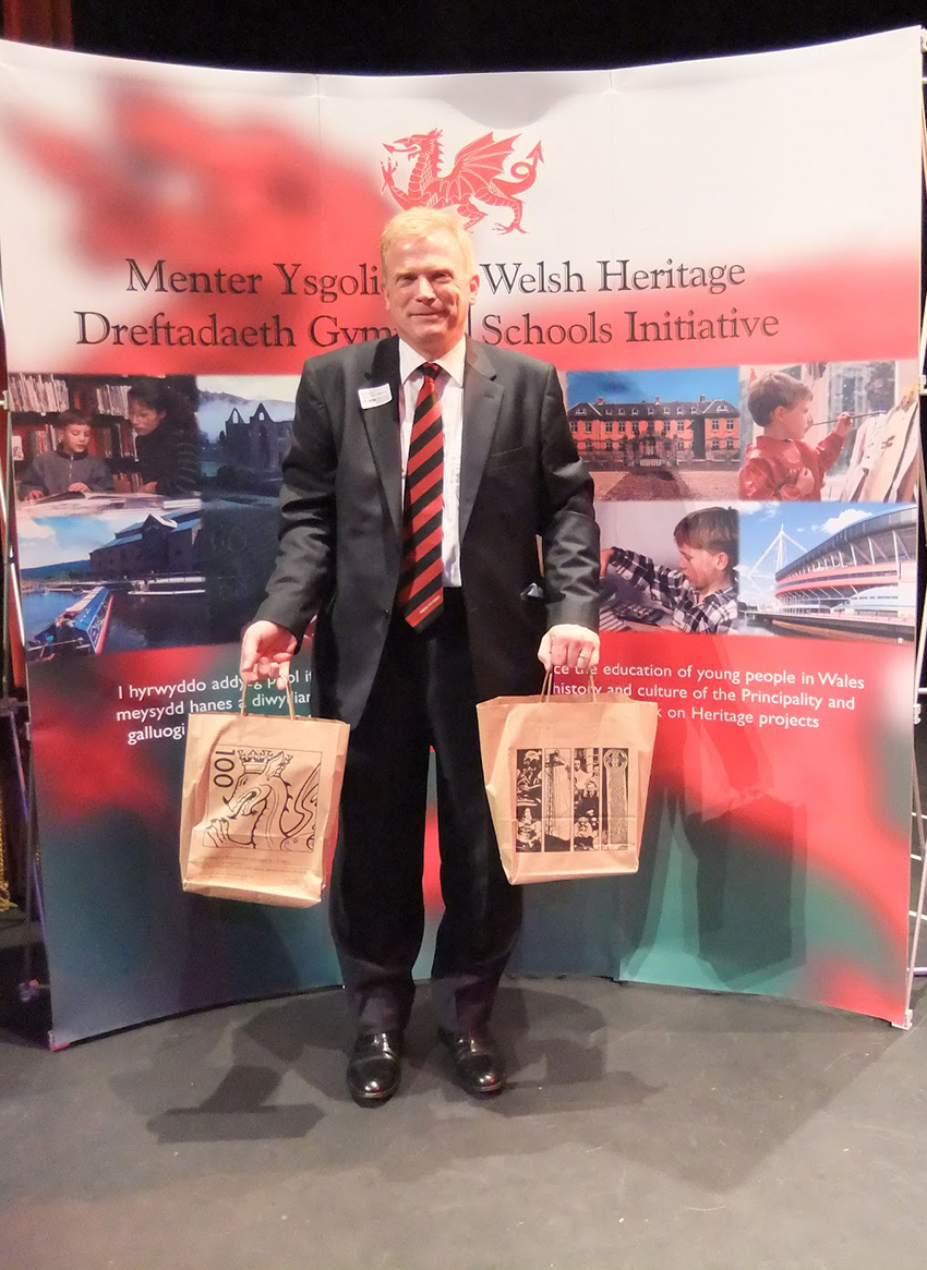 Prof. Chris Williams, Commissioner and Chairman of the Welsh Heritage Schools Initiative, will be presenting the schools with their prizes which includes the Royal Commission's publication Hidden Histories.