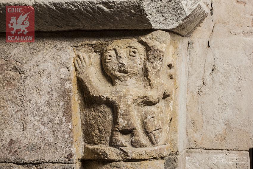 Detail of carving, St Padarn's Church, Llanbadarn Fawr (Powys) DS2012_389_007 C.564519 NPRN: 236