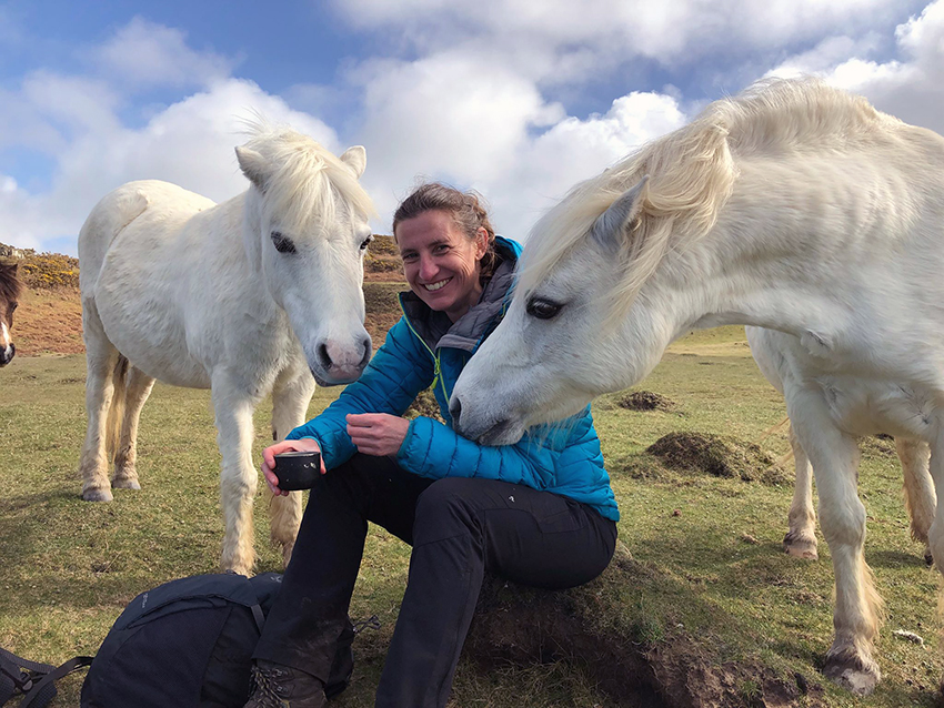 The friendly ponies with CHERISH investigator Louise Barker.
