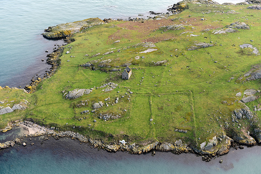 1. Archaeological remains on Dalkey Island.