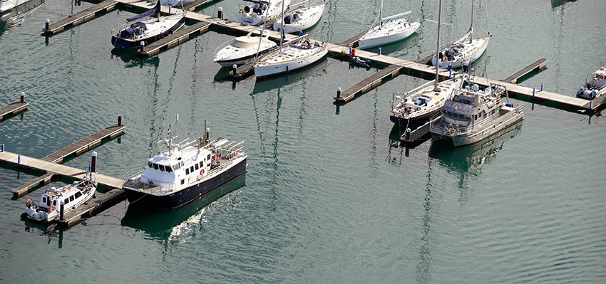 2. Survey vessels of the Geological Survey of Ireland's INFOMAR programme, moored in Dun Laoghaire harbour, with the Mallet (left) and RV Keary (right).