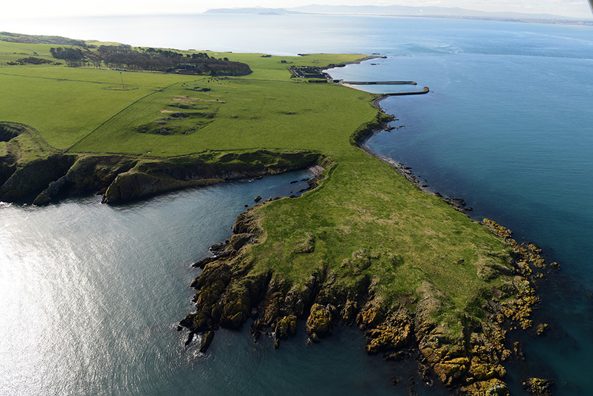4. Coastal promontory fort on Lambay Island, Dublin Bay.