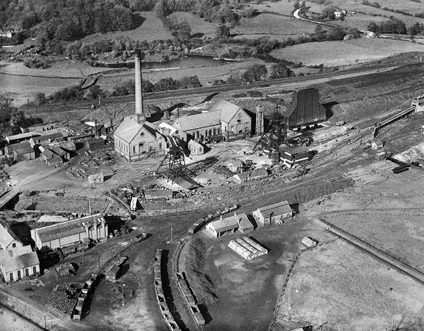 5. Gresford Colliery, Wrexham, 23 October 1934. This photograph was taken one month after the Gresford mining disaster of 22 September 1934, when a major explosion and subsequent fire in the Dennis section killed 266 miners.