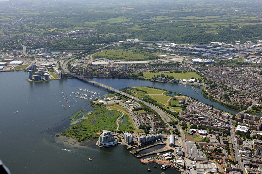 Techniquest; the St. David's Hotel; Hamadryad Park and the Lagoons and Wetlands Nature Reserve, Cardiff Bay, 2015