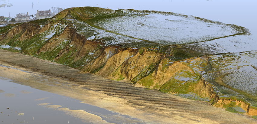 3D Laser Scanning of the cliff face to monitor erosion, June 2018