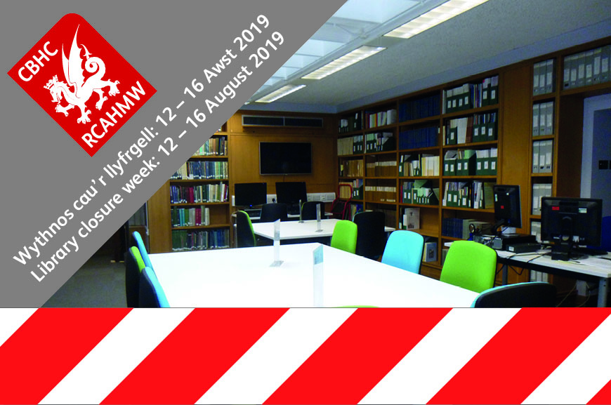 NMRW - Library closure week 12 - 16 August 2019