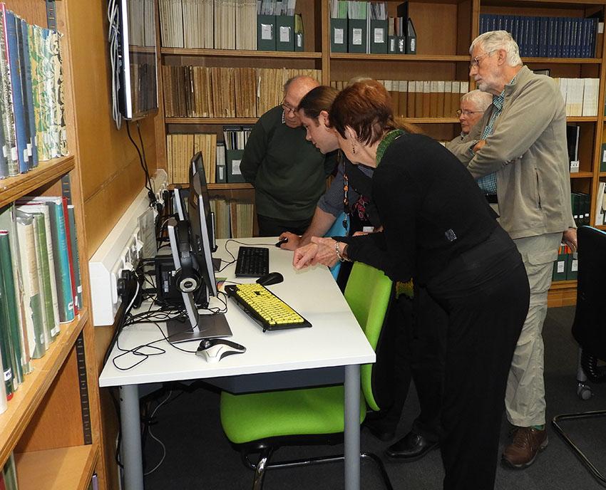 Library Volunteers at RCAHMW