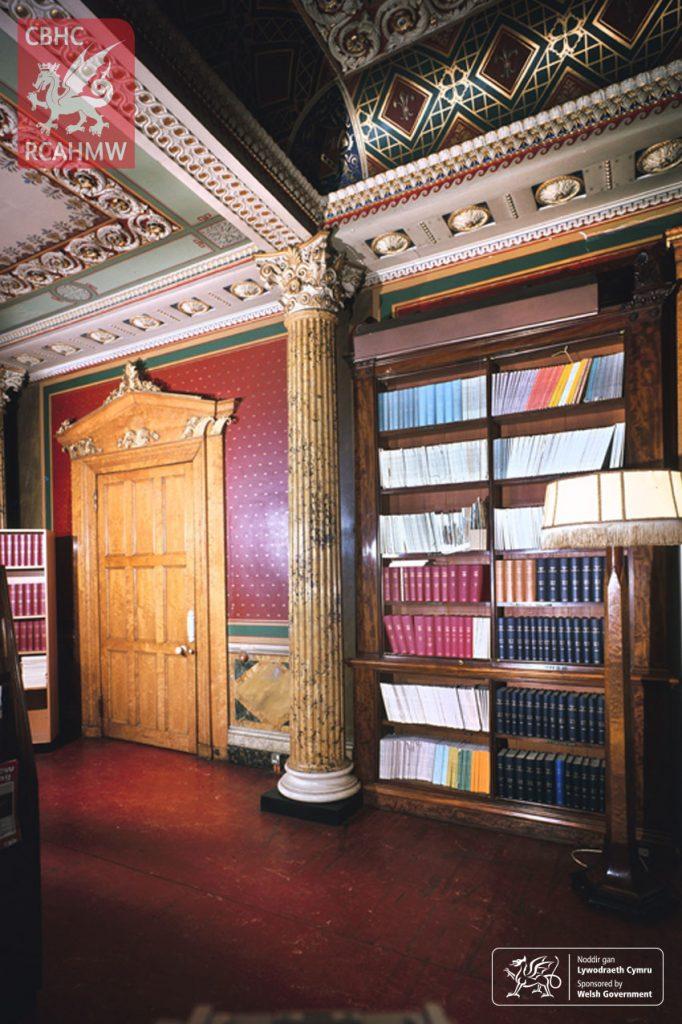 Trawsgoed Mansion Library, 1981 Ref. DI2011_0081     C.540807     NPRN: 35307