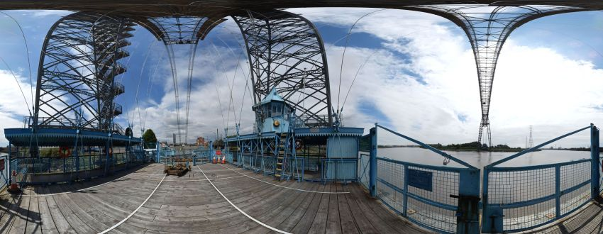 A 360-degree gigapixel photograph of Newport Transporter Bridge (1906), the oldest operational example in the UK