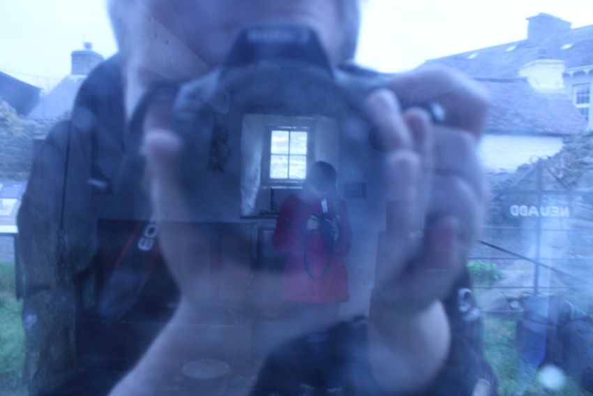 Experimental photography at Llannon Cottage, Ceredigion