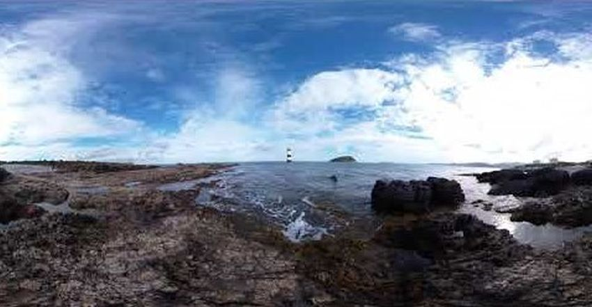 Penmon, Black Point (Trwyn Du) Lighthouse and Puffin Island, 2019 (360-degree video)