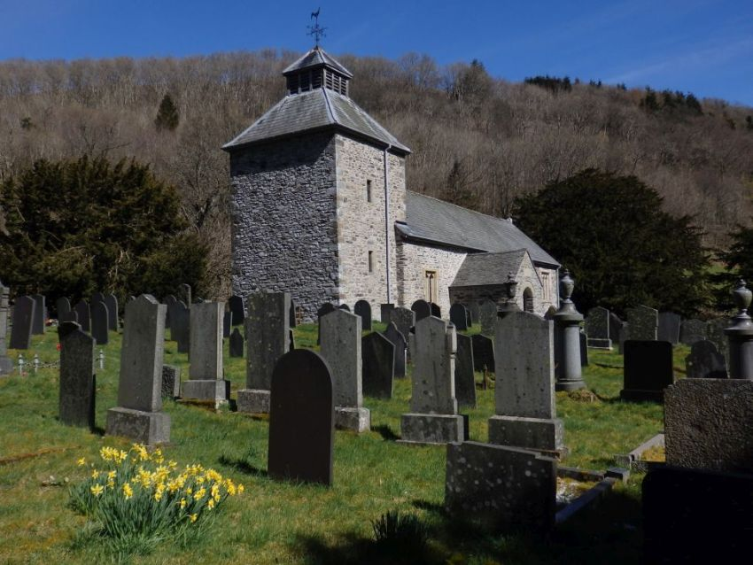 Pennant Melangell, Montgomeryshire. NPRN 160381. This restored church has a C12th shrine and is a destination for C21st pilgrims.