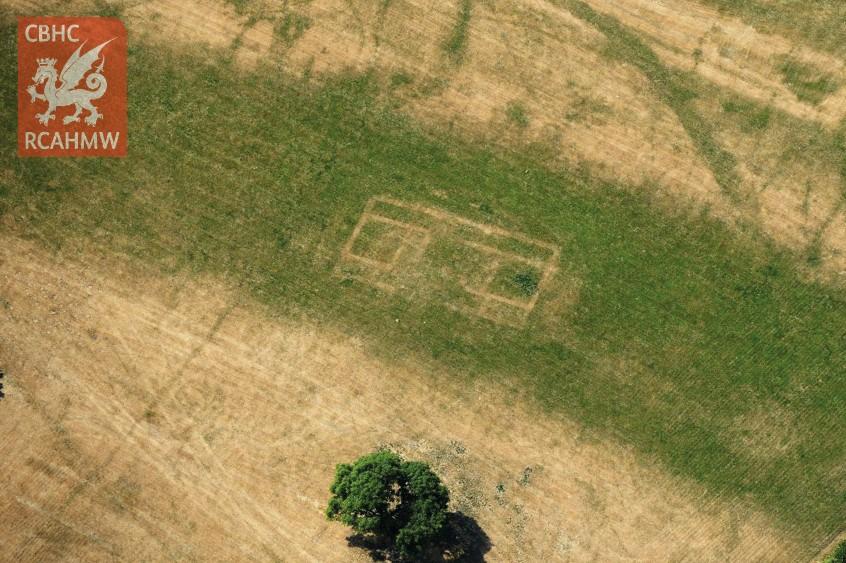 Wyndcliff Roman villa, near Chepstow (Crown Copyright RCAHMW, AP_2018_5673)