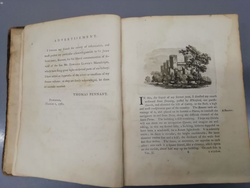Thomas Pennant: A Tour in Wales, Cyfrol II. London: Henry Hughes (Argraffiad 1af, 1783)