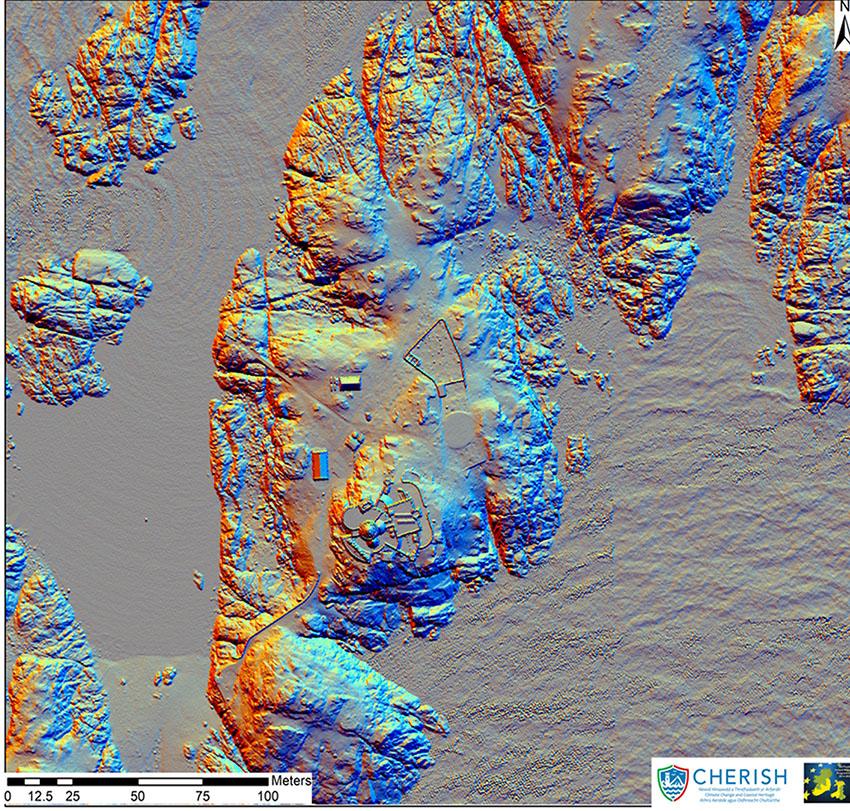 Airborne laser scanning (LiDAR) of The Skerries: 2017