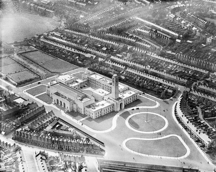 Swansea Civic Centre and Guildhall, 1935