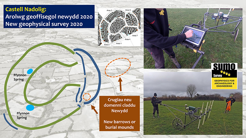 Geophysical survey results from Castell Nadolig